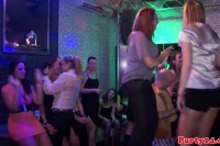 Wild party amateurs sucking dicks and licking titties on the dance floor