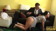British amateur sub ass spanked and pussy fucked by the maledom