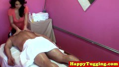 Oriental masseuse in deep throat and more