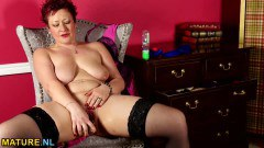 Mature BBW Gets Naked And Masturbates
