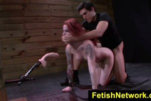Submissive Redhead Sheena Rose Gets Dominated