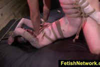Tied up for some dirty fetish fun