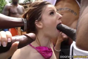 Chesty Stella Cox Playing With Black Cocks