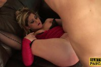 Rough anal sex for the British slut Leah