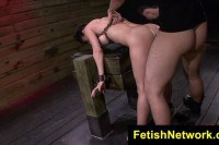 BDSM anal training for the chick Fiona Rivers
