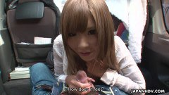 Miyashita toy stuffed and gave blowjob publicly