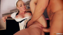 Stunning maid got that wet pussy nailed