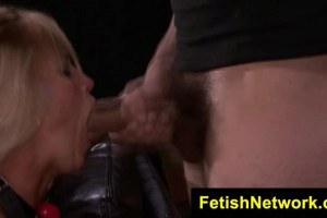 Horny blonde Dani Dare took a mouth full of fuck
