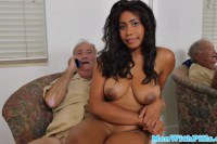Young Ebony Fucked By Grandpa In HD
