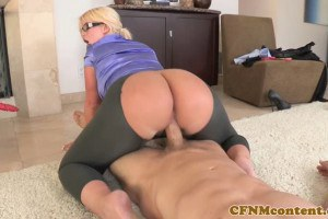 Round ass blonde MILF gets fucked by her client