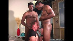 Hairy Dude Takes Two BBC To Play With
