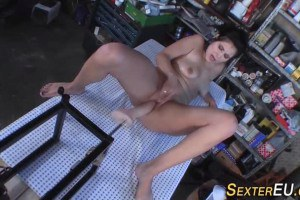 German MILF Fucked By Cock Machine On The Table