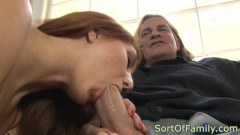 Horny Redhead Penetrated By Her Step Dad