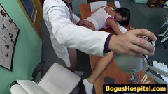 Gorgeous student fucked by the doctor at the office