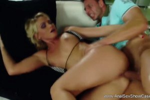 Sublime blonde cougar gets her ass fucked and creamed