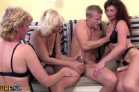 Horny Matures Playing With Lucky Dudes