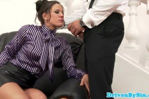 Glamorous busniess woman knows how to suck