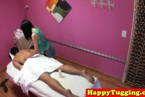 Asaian cutie knows how to make a massage hot