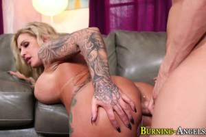 Massive titted MILF got her ass stretched
