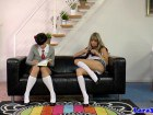Horny schoolgirls playing some dirty games