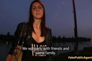 Slutty hungarian babe has a fuck outdoors