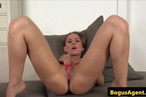 Hot Eurobabe fucked and creampied during casting