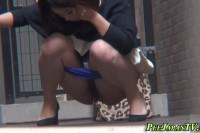 Nasty Asian Taking A Piss In Public