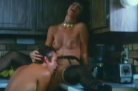 Classic Brunette Chick Enjoys A Dick In The Kitchen