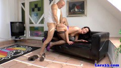 Naughty cougar Lara Latex fucked by Budapest construction worker