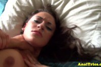 Hot girlfriend loses her anal virginity today