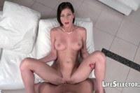 Appetizing pornstars pussy and assfucked in POV