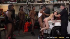 Hubby watches as hottie McKenzie Lee gets fucked by multiple black dicks