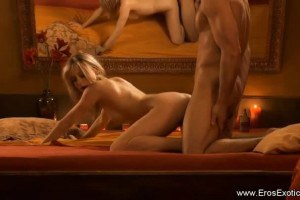 Superb blonde does passionate anal sex with lover