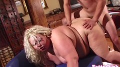 Huge ass BBW blonde fucked doggystyle and spanked  - duration 07:59