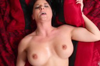 Inked brunette Casey Cumz sucks and fucks a POV cock