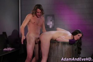 Dreamy babe ass spanked before sensual intercourse