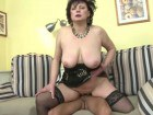 Filthy mature fucked hard by her new boy-toy