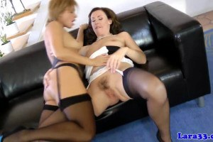 Classy lesbians eating each others hot little pussy out