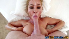 Glam Asian MILF sucks and fucks POV cock