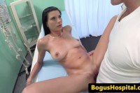 Busty euro patient fucked and jizzed by the doctor