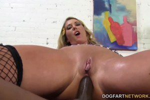 Blue eyed cuckolding girlfriend assfucked with BBC