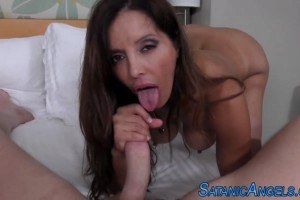 Cock sucking MILF can't get enough of a hard cock