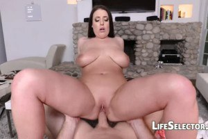 Appetizing MILF Angela White gets fucked in POV and gives footjob
