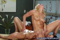 Oiled all girl massage turns into a relentless lesbian fuck