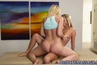 Alluring blonde lesbo turns a massage into relentless lesbian intercourse