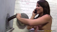 Babe Casey Cumz having interracial fun at the gloryhole