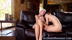 Blonde lesbian teen going wild with her girlfriend