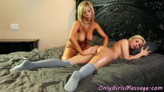 Mature lesbian MILF having some fun with her sexy teen daughter