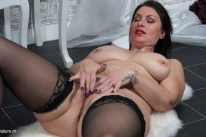 Posh massive breasted hot mom fooling around