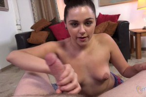 Zoey Foxx is nuts for tugging big fat cocks in POV